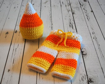 Candy Corn Costume - Candy Corn Hat - Halloween Costume - Halloween - Photography Prop - Newborn Prop - Candy Corn Outfit