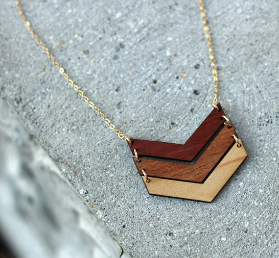 Ombre Chevron Necklace