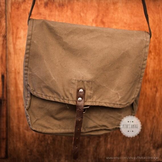 Indiana jones bag messenger bag canvas messenger bag crossbody bag military canvas bag army bag canvas backpack soviet military bag vintage