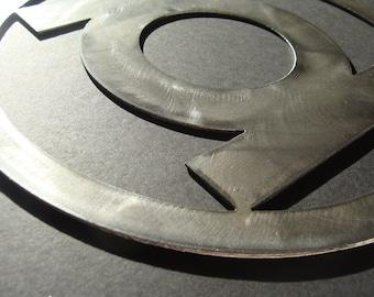 Green Lantern Metal Art