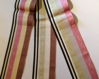 Antique French silk ribbons from the 1920s