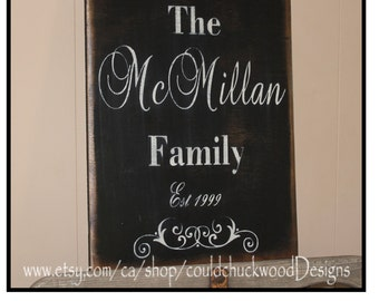 """Personalized family signs. 18"""" x 12"""""""
