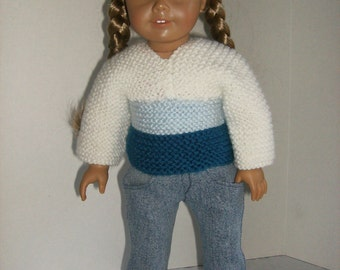 American Girl Doll Clothes, 18in Doll Clothes, AG Clothes, Handknit Doll Sweater, AG Doll Sweater, 18in Doll Sweater, MadeMagical