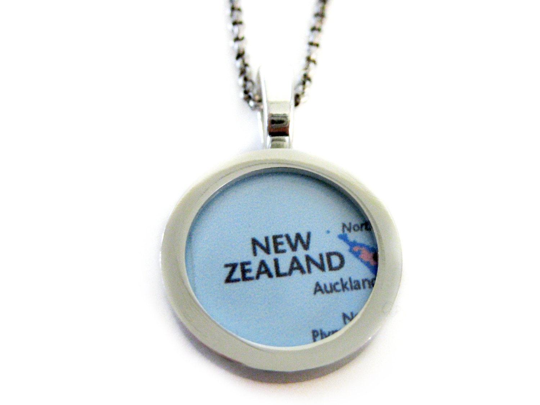 new zealand map pendant necklace
