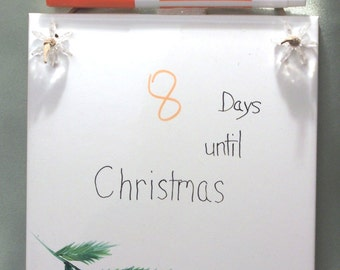 Christmas Countdown Ceramic Dry Erase Message Board