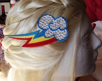Fancy Rainbow Dash Cutie Mark Hair Pin