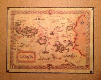 Narnia Map cotton fabric: The Chronicles of Narnia