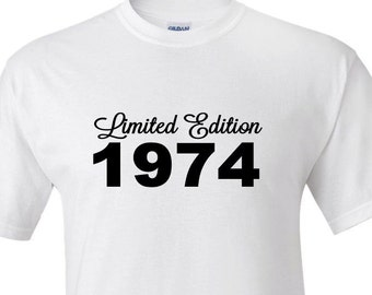 Personalized Limited edition with any year - Birthday,husband, boyfriend, etc. T shirt