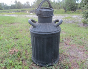 Antique Fuel Can, Large Fuel Can, metal container, farmhouse decor,oil can, industrial decor, Automotive