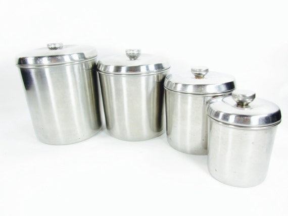 Retro Canisters Stainless Steel Canister Set Metal Canister