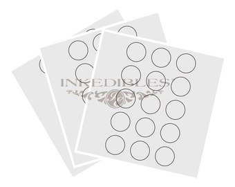 Inkedibles premium Frosting Sheets 24 sheets: Precut 2.0 inch circles (15 circles per sheet) on A4 size backing