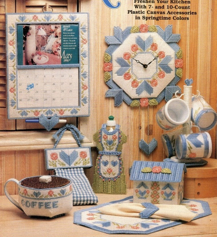 Plastic Canvas Pattern Book Kitchen Accessories Hearts And