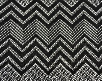 Black Geometric Missoni Lace Fabric - Pattern MISSONI - 1 Yard Style 361
