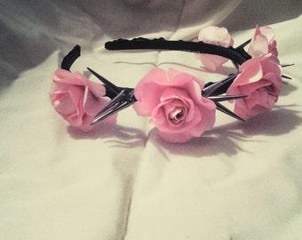 Pink Spike Flower Crown