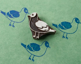 Seagul, hand crafted wooden stamp