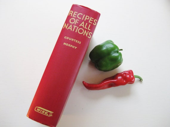 "1952 ""Recipes of All Nations"" compiled by Countess Morphy"