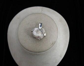 Vintage Sterling Silver Geod Pendant