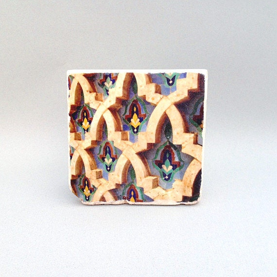 Items similar to moroccan blue tile coaster custom drink for Handmade drink coasters