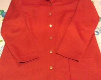Vintage burnt orange swing coat, medium