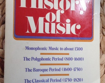 History of Music Softcover Book
