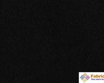 Black Solid Minky Fabric, Sold by the Yard 6015