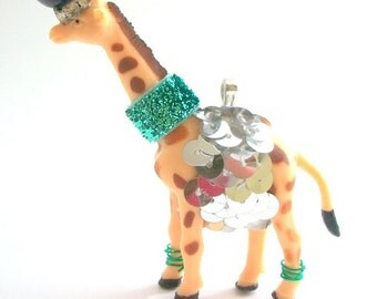 Fancy Animal Necklace, Party Animal Necklace, Circus Animal Necklace, Giraffe Necklace, Animal Necklace, Animal Jewelry, Whimsical, Unique