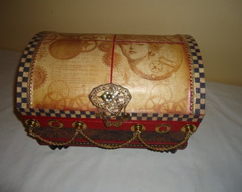 Steam Punk Large Treasure Chest/Jewelry Box