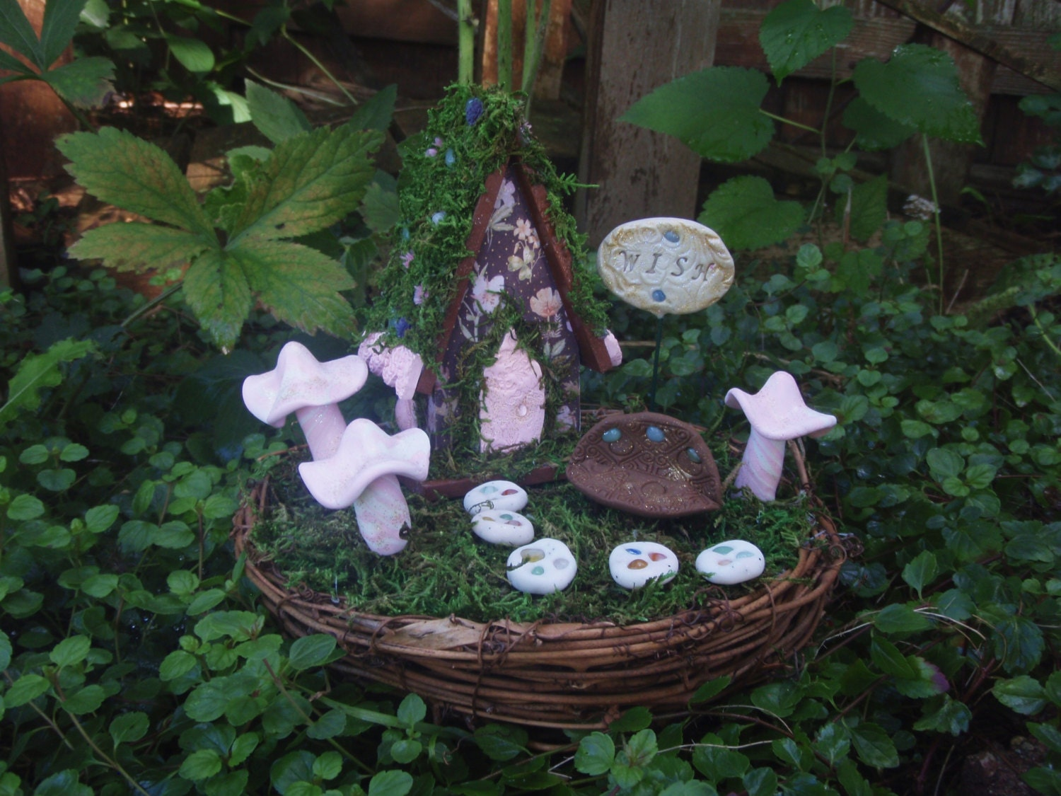 Unavailable listing on etsy for Fairy garden kits