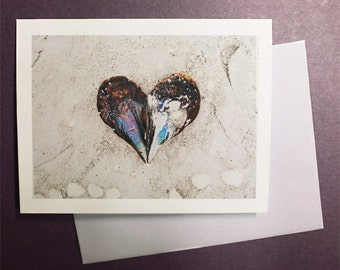 Shell Heart Note Card