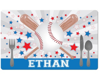 Baseball Gifts for Boys, Kids Baseball Gifts, Kids Personalized Placemat Baseball