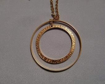 Vintage Gold Tone Guess Pendant Necklace
