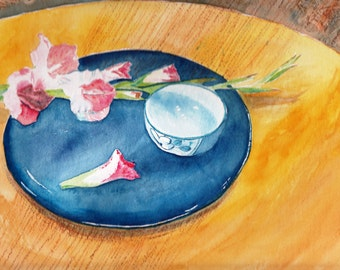 Watercolor Cards Gladioli Cards Still Life Note Cards  Floral Cards, Flower Cards Cards for Mom Cards for Her Gift for Friend
