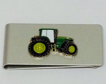 Green Tractor Money Clip-Farmimg Gift