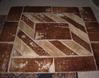 """Cow Hide Rug or Wall Hanging 59 x 71"""""""