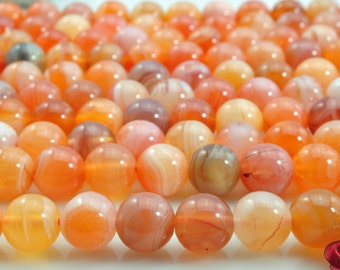 47 pcs of  Botswana Agate smooth round beads in 8mm