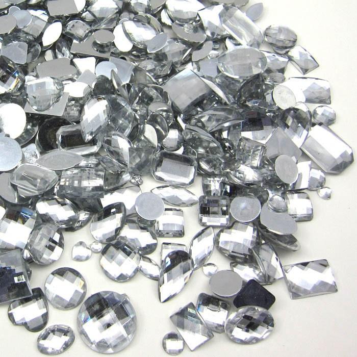 bulk 700 pieces gems for crafts