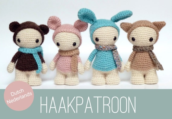 Cute Amigurumi Crochet Patterns : DUTCH / NEDERLANDS Amigurumi crochet pattern of four cute