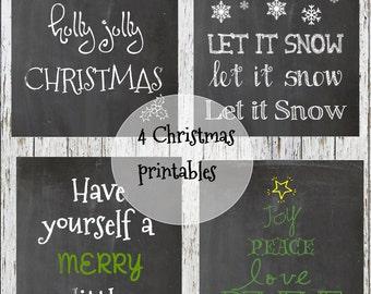 4 Chalkboard Christmas Printables