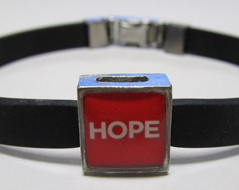 MADD Mothers Against Drunk Driving Hope Awareness Link With Choice Of Colored Band Charm Bracelet