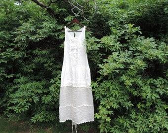 Upcycled boho dress Scarf Dress Cotton