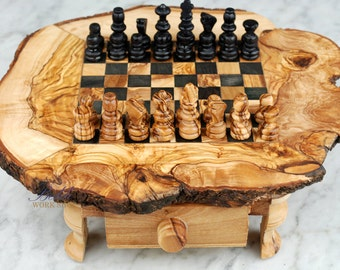 chess set wood