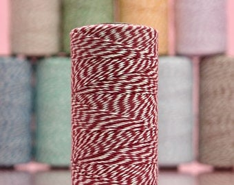 Red Baker's Twine 10 yards Cotton