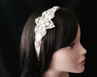 Bridal Headband- Rhinestone Bridal Headband- Bridal Headpiece- Rhinestone Bridal Headband