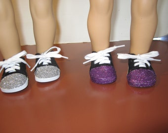 Sneakers, cowboy boots and socks for 18 inch dolls