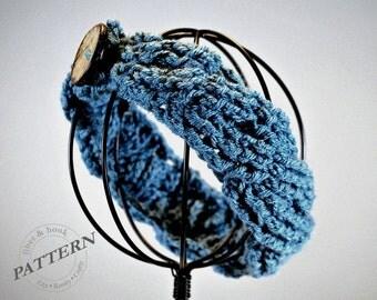 CROCHET PATTERN - Crochet Cable Headband Pattern, Crochet Cable Pattern, Headband Pattern, Button (Toddler, Child, Adult sizes) pdf #017B