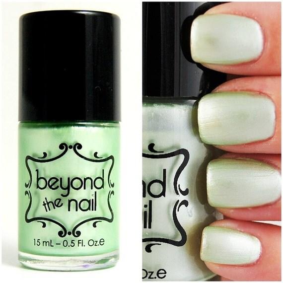 Pearl Nail Polish: Items Similar To Pale Green Pearl Nail Polish On Etsy