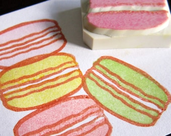Macaroon rubber stamps - set of 2