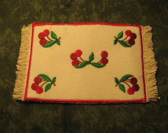 Cherry miniature mini rug for your Dollhouse Kitchen