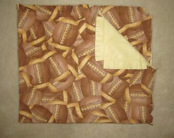 """Football Fleece Blanket, 54"""" x 60""""  fleece blanket, Double sided fleece blanket"""
