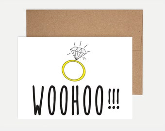 Funny Engagement Card - Woohoo!!!